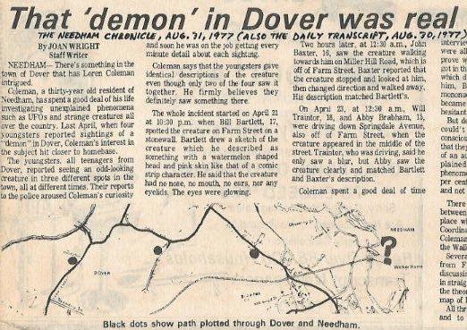 The Dover Demon's Men In Black