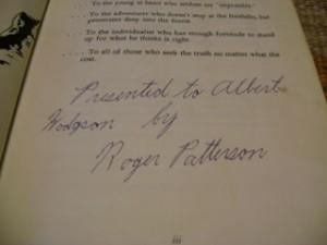 Al Hodgson Patterson Signature